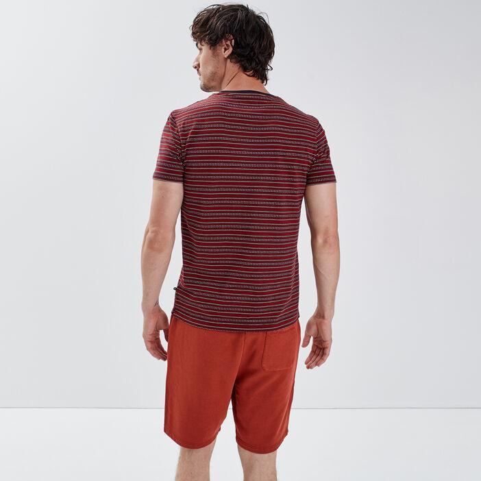 T-shirt manches courtes orange foncé homme