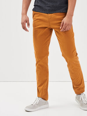 Pantalon slim Instinct chino jaune moutarde homme