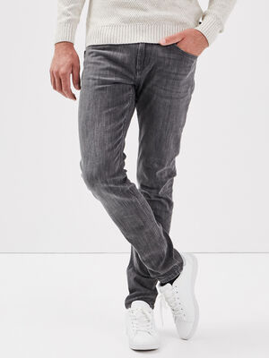Jeans slim denim gris homme