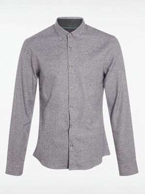 Chemise col boutonne gris homme