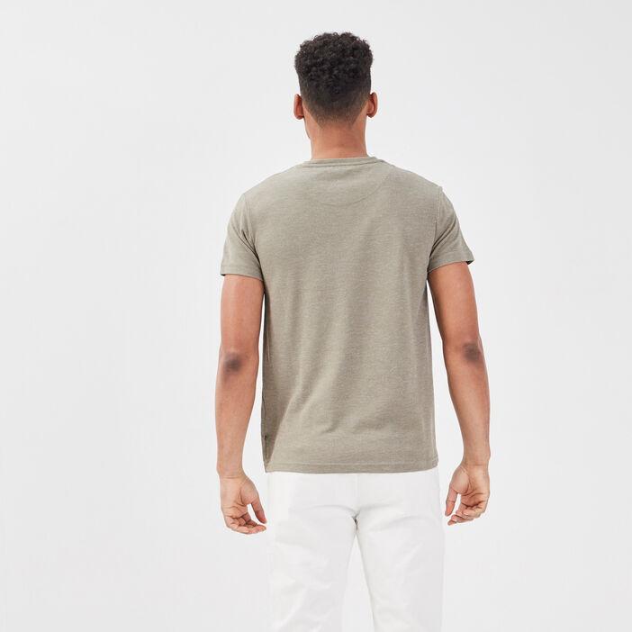 T-shirt éco-responsable vert kaki homme