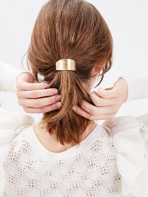 lastique a cheveux a ornement couleur or femme