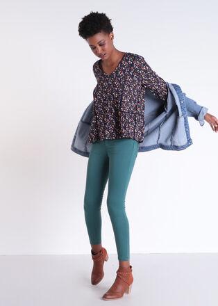Blouse manches 34 ample multicolore femme