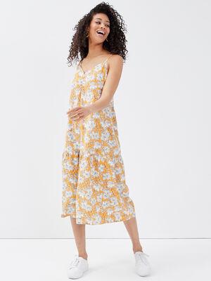 Robe eco responsable orange clair femme