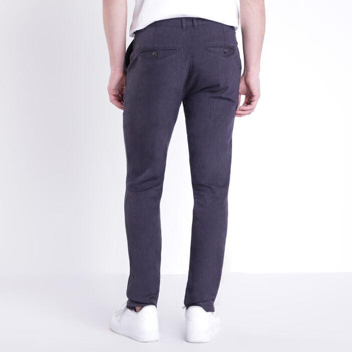 Pantalon chino 4 poches bleu foncé homme