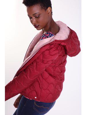 Doudoune avec capuche Instinct rouge femme
