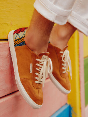 Baskets Panafrica x Bonobo orange fonce homme