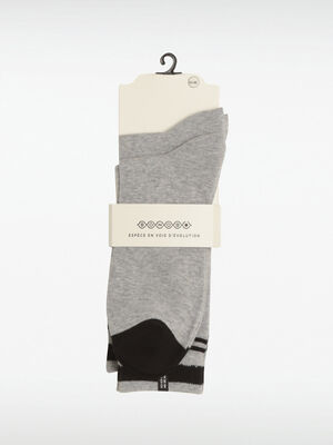 Lot 2 paires chaussettes gris clair homme