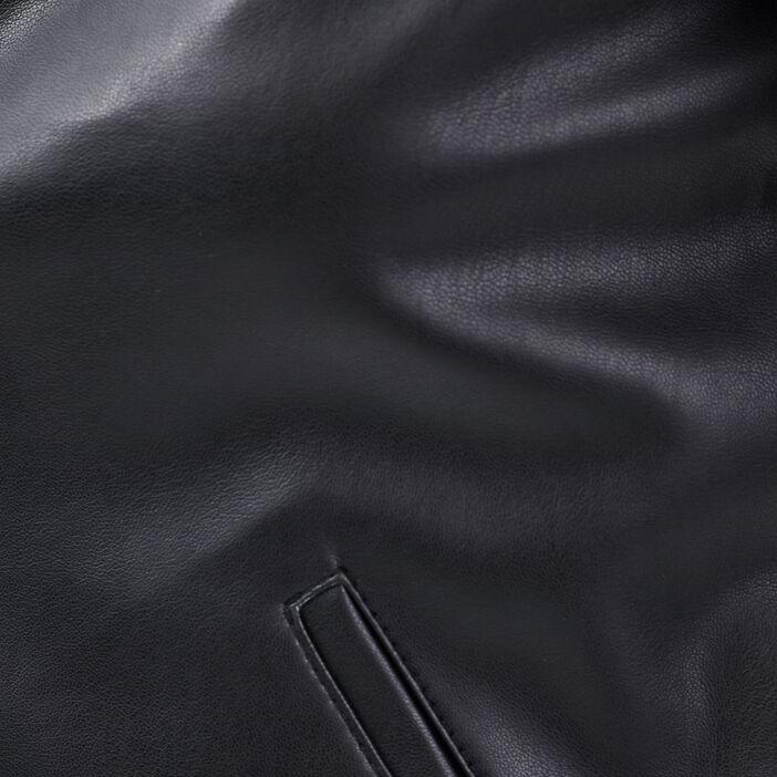Veste droite boutonnée noir femme