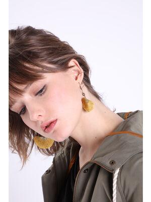 Boucle doreille a glands jaune citron femme