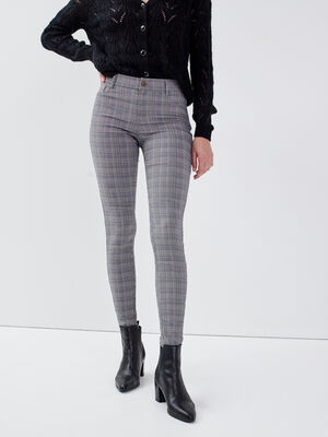 Pantalon skinny gris femme