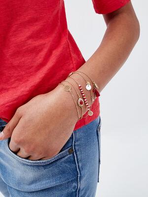 Lot 5 bracelets couleur or femme
