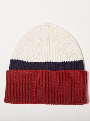 Bonnet tricote ecru homme