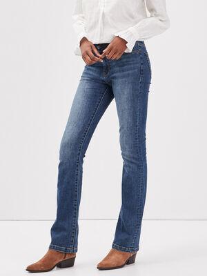 Jeans bootcut eco responsable denim stone femme