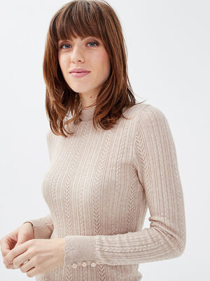 Pull eco responsable creme femme