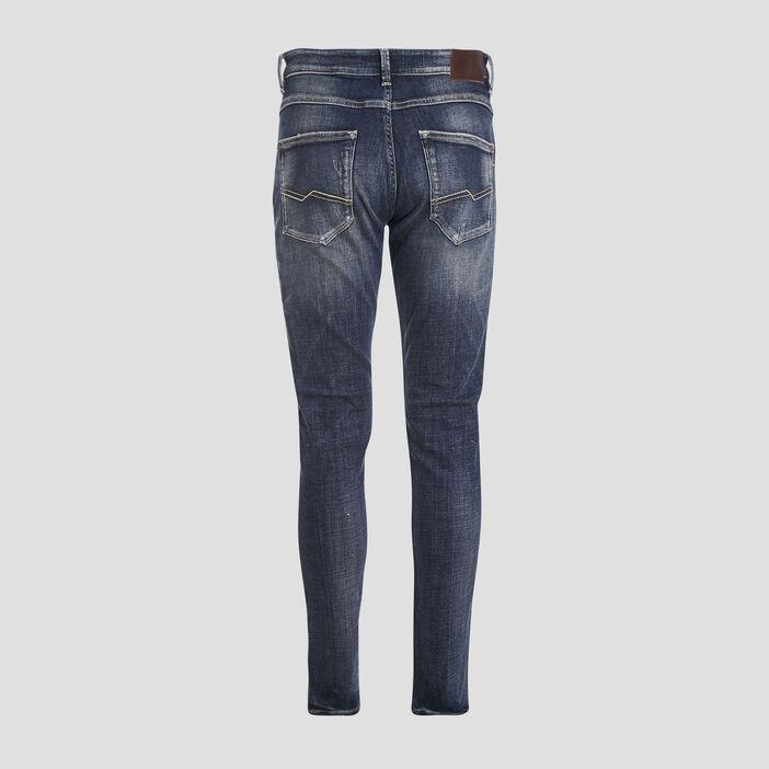 Jeans slim avec porte-clés denim dirty homme