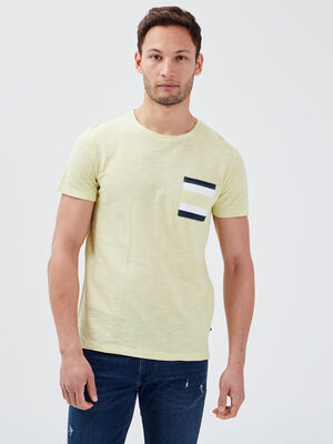 T shirt manches courtes vert fluo homme
