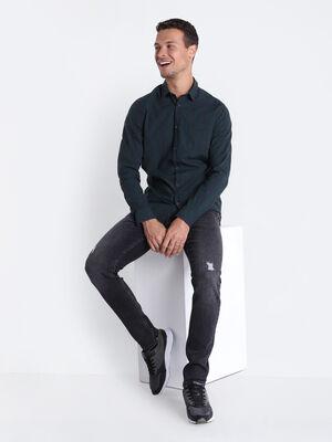 Jeans skinny destroy denim noir homme