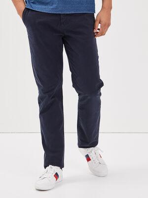 Pantalon straigth Instinct chino bleu fonce homme