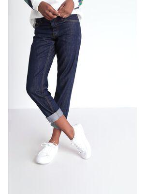 Jeans regular a ourlets denim brut femme