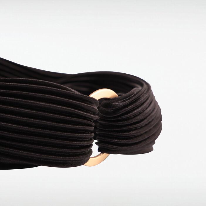 Bandeau plissé détail anneau noir femme