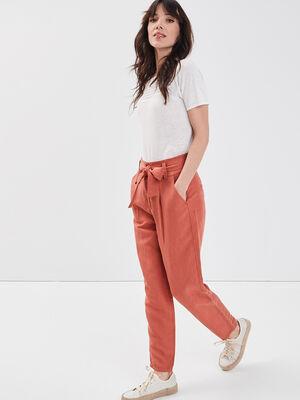 Pantalon eco responsable vieux rose femme