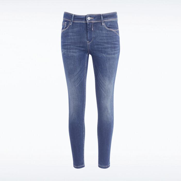 Jeans slim push up 7/8ème denim brut femme