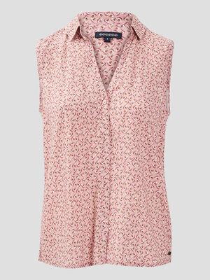 Chemise sans manches rose poudree femme