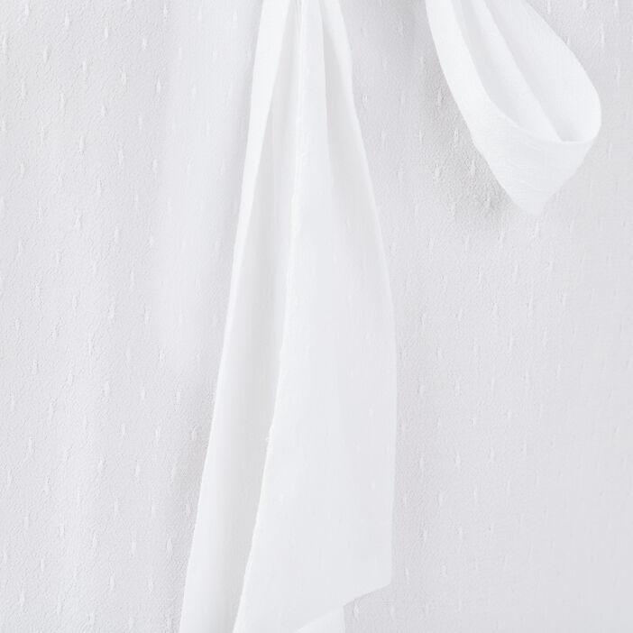 Blouse manches longues blanc femme