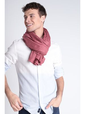 Foulard effet froisse rouge fonce homme