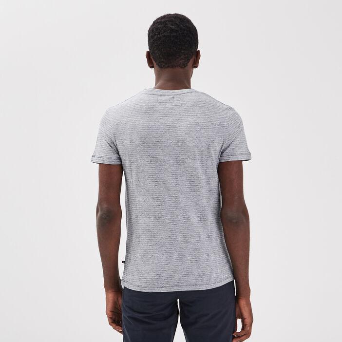 T-shirt éco-responsable bleu gris homme