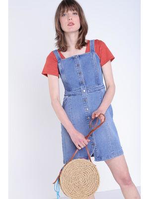 Robe en jean denim stone femme