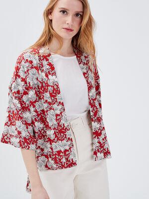 Kimono eco responsable rouge femme