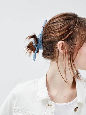 Lot 2 chouchous bleu gris femme