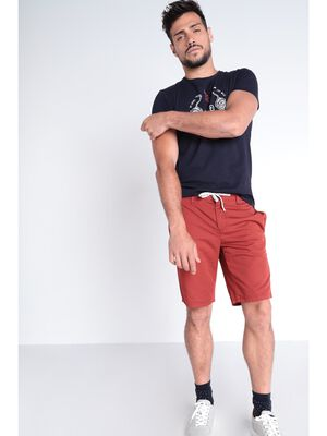 Short court a cordons rayes orange fonce homme