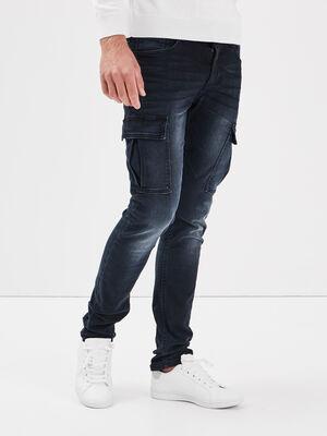 Jeans slim eco responsable denim blue black homme