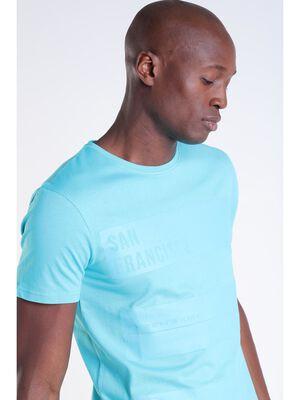 T shirt vert turquoise homme