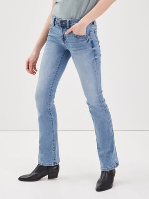 Jeans bootcut used Instinct denim used femme