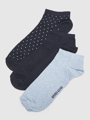 Lot 3 paires chaussettes bleu clair homme