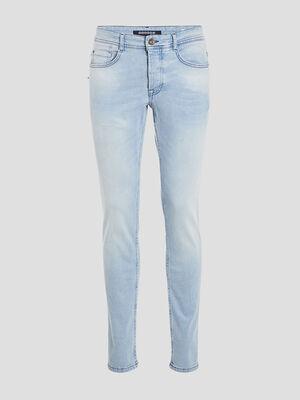 Jeans slim denim bleach homme