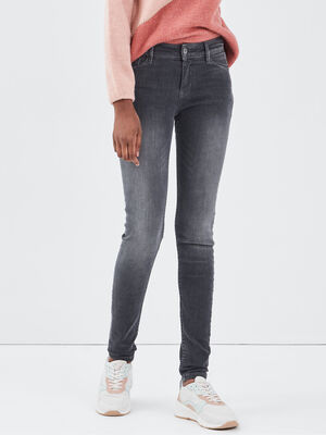 Jeans Marylin  skinny push up denim gris femme