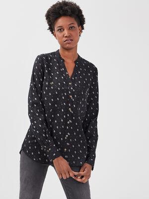 Chemise eco responsable noir femme