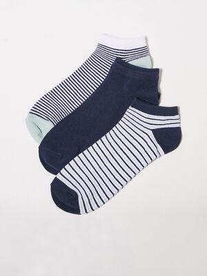 Lot 3 paires de chaussettes vert kaki homme