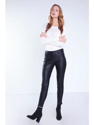 Pantalon skinny similicuir noir femme