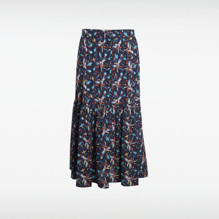 6c5d4bb46d3b86 Jupe longue bleu marine femme | Vib's