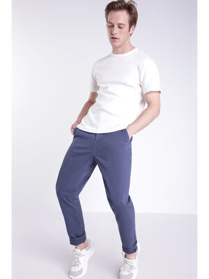Pantalon chino Instinct bleu marine homme