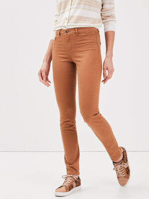 Pantalon eco responsable marron femme