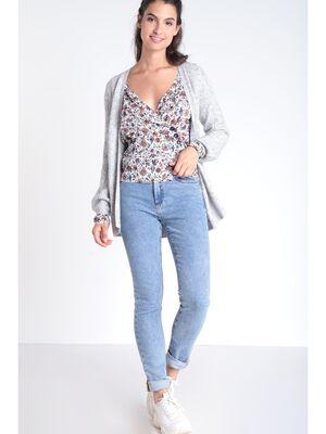 Jeans slim effet snow denim used femme