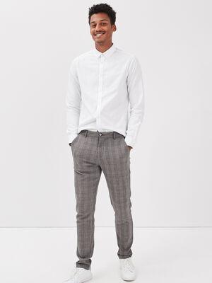 Pantalon chino slim beige homme