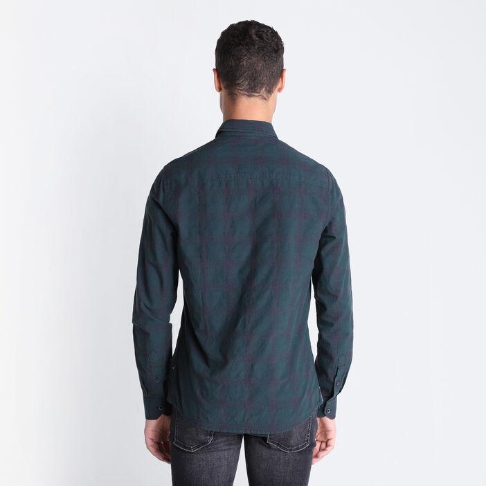 Chemise manches longues vert foncé homme